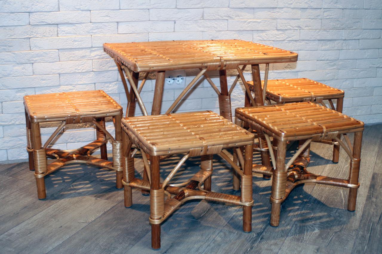 Комплект плетеной мебели 4+1