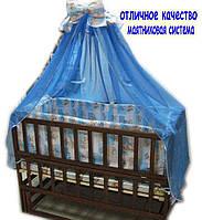 Акция!!! Детская кроватка маятник Малыш+ на подшипниках темная. Отличное качество.