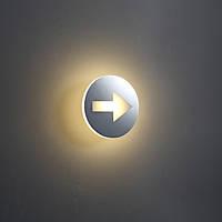 """Светодиодный указатель """"Стрелка""""  Ø162*55мм, корпус из алюминия, кольцо-нержавеющая сталь,SMD LED 4W, CRI-80"""