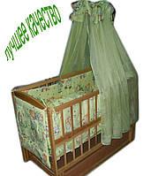 Акция!!! Детская кроватка маятник Малыш+ на подшипниках  светлая. Отличное качество.