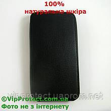 Lenovo S720 чорний чохол-книжка 100% шкіра