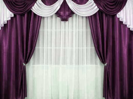 """Комплект штор """"Прима""""+лабрекен+тюль( Цвет фиолетовый), фото 2"""