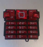 Клавиатура для Sony Ericsson T700, High copy, Красная /Кнопки/Клавиши /сони эриксон
