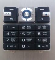Клавиатура для Sony Ericsson T700, High copy, Черная /Кнопки/Клавиши /сони эриксон