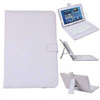 Чехол для планшета с клавиатурой keyboard 7 white micro (50)