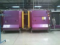 Стеклопакетная линия Lisec 1600 X 4000 с газовым тандемным прессом и роботом герметизации.