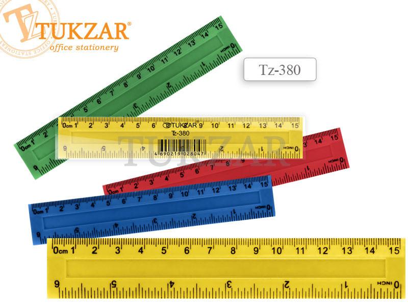 Линейка пластиковая цветная 20 см, с двойной шкалой, в упаковке двухсторонняя, цветная пластиковая 20 см