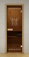Стеклянная дверь для сауны ЕГИПЕТ ALDO 790х1990 мм, фото 1