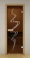 Стеклянная дверь для бани ТОРНАДО ALDO 790х1990 мм