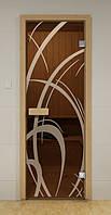 Стеклянная дверь для бани МОККО ALDO 790х1990 мм, фото 1
