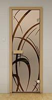 Стеклянная дверь для бани АРАБИКА ALDO 690х1890 мм
