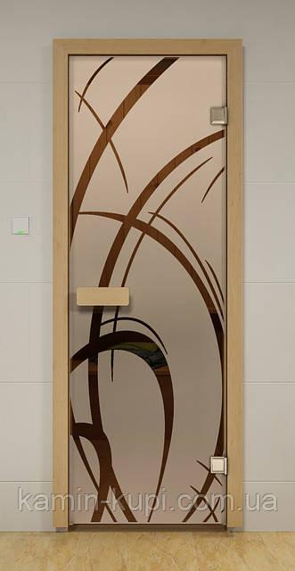 Стеклянная дверь для бани АРАБИКА ALDO 690х1890 мм, фото 1