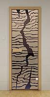 Стеклянная дверь для сауны СПРАЙТ ALDO 790х1990 мм, фото 1