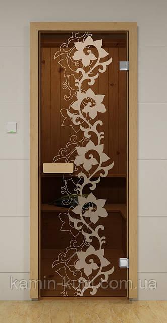 Дверь для сауны стеклянная КАМЕЛИЯ ALDO 690х1890 мм, фото 1