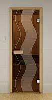 Стеклянная дверь для сауны и бани РАСТР ALDO 690х1890 мм, фото 1