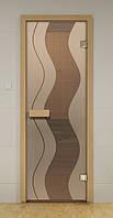 Стеклянная дверь для сауны и бани МУАРА ALDO 690х1890 мм, фото 1