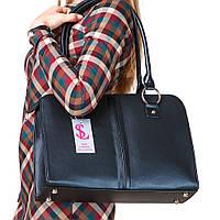 Классическая сумка-портфель женская черная деловая