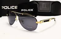 Мужские солнцезащитные очки Police 6808 (Цвет черный с золотом)