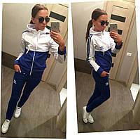 Костюм спортивный женский из двухнитки Adidas P868, фото 1