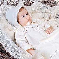 Рубашка для крещения Лоза от  Battesimo  от 0 до 6 месяцев, шампань