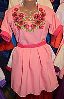"""Вишите плаття """"Рожеві маки"""""""