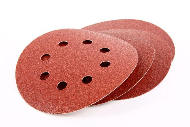 Насадки-липучки (круглые, прямоугольные) Круг абразивный, 125 мм,