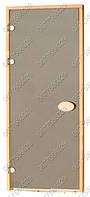 Дверь для саун Pal 80х210 матовые bronze, левая петля