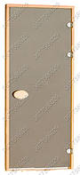 Дверь для саун Pal 80х210 матовые bronze, правая петля
