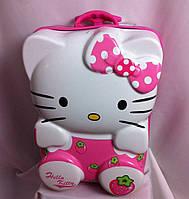 """Детский чемодан 16"""" на колесах Hello Kitty розовый"""