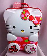 """Детский чемодан 16"""" на колесах Hello Kitty красный"""