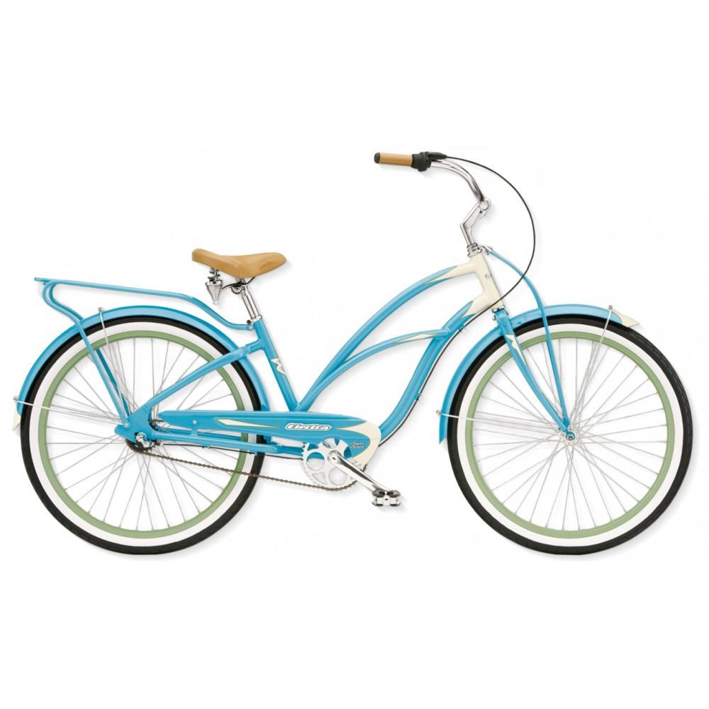 """Велосипед 26"""" ELECTRA Super Deluxe 3i Ladies' (Alloy) Aqua/Cream"""