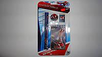 Канцелярский школьный набор Spider-Man Спайдермен,Kite 5 предметов.Подарочный детский канцелярский набор Spide