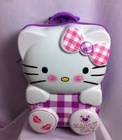 "Детский чемодан 16"" на колесах Hello Kitty сиреневый"