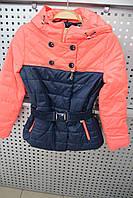 Куртка детская Anernuo 1503 сине-кораловый