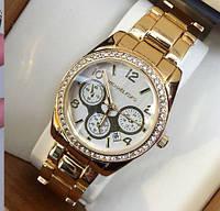 Часы наручные женские Michael Kors суперстразы золото, часы 2015