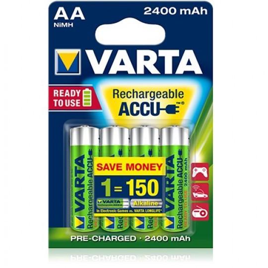 Аккумуляторы Varta Rechargeable Accu AA 2400 mAh Ni-Mh