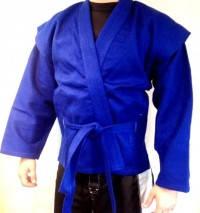 Самбовка (куртка для самбо) синяя