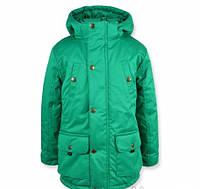 """Практичная качественная куртка  """"Парка"""" (зеленая ) для мальчика."""