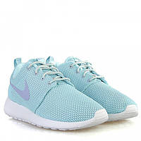 Кроссовки женские голубые Nike Roshe Run IT.Jade/ Purple для спорта, активного отдыха