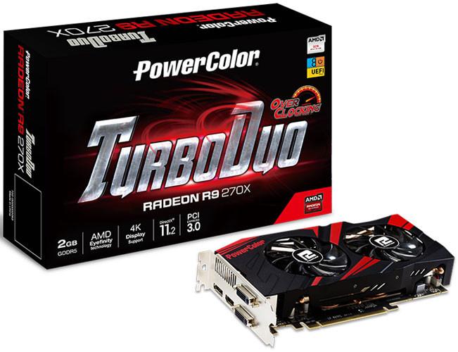 "Видеокарта PowerColor R9 270X TurboDuo 2GB OC GDDR5 ""Over-Stock"""