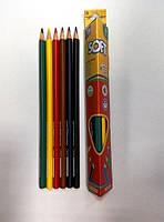 """Цветные карандаши треугольные """"Extra Soft"""" 6 цветов, CF15142 Cool For School"""