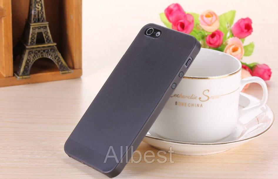 Чехол бампер для телефона Iphone 5\5S черный