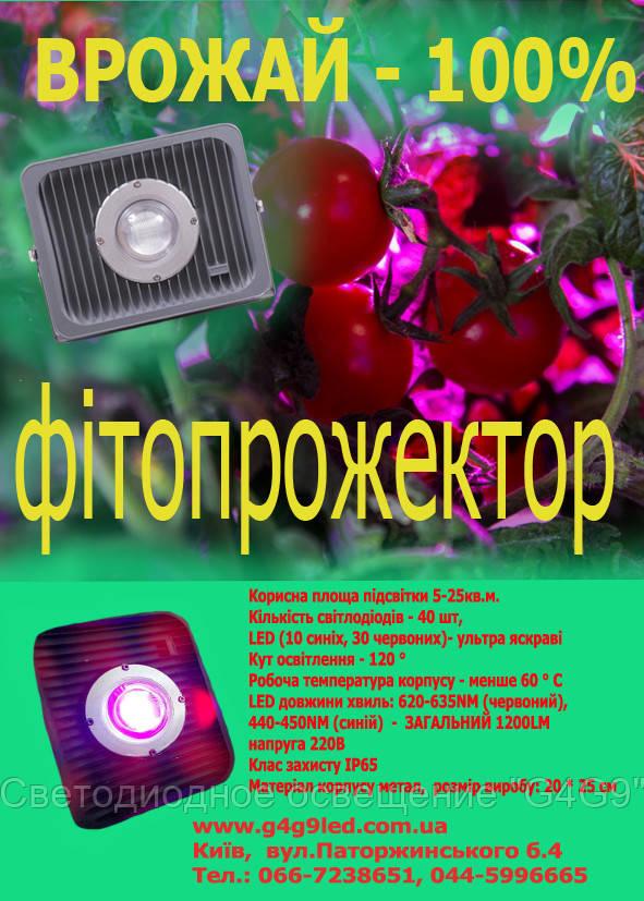 Фитопрожектор светодиодный 50W