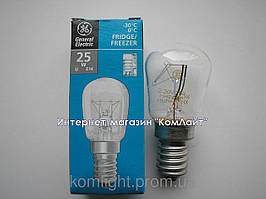 Лампа для холодильника 25Вт Е14 General Electric Pygmy 25P1/CL/E14 230V (Венгрия)