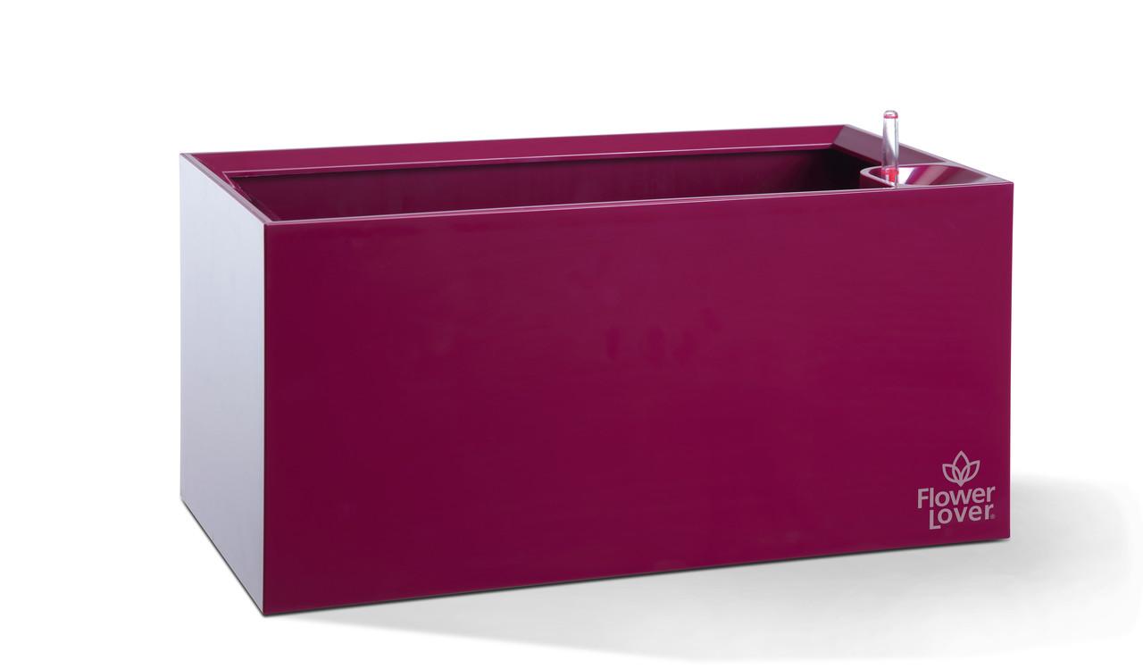 Умный вазон с системой автополива Cubico Flower Lover 42x21x21 глянцевый PLASTKON Пурпурный