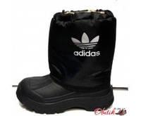 Сапоги дутики подростковые-детские зимние Adidas на меху AD0023