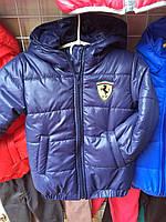 """Детская куртка """"Ferrari"""" оптом 92-116 темно-синяя"""
