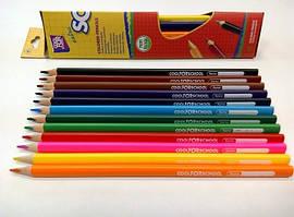 """Цветные карандаши треугольные """"Extra Soft"""" 18 цветов, CF15144 Cool For School"""