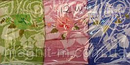 Полотенце махровое 1м х 0,5м.  Розы. 3 цвета