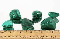 Галтовка натуральный МАЛАХИТ 90 грамм 3 камня